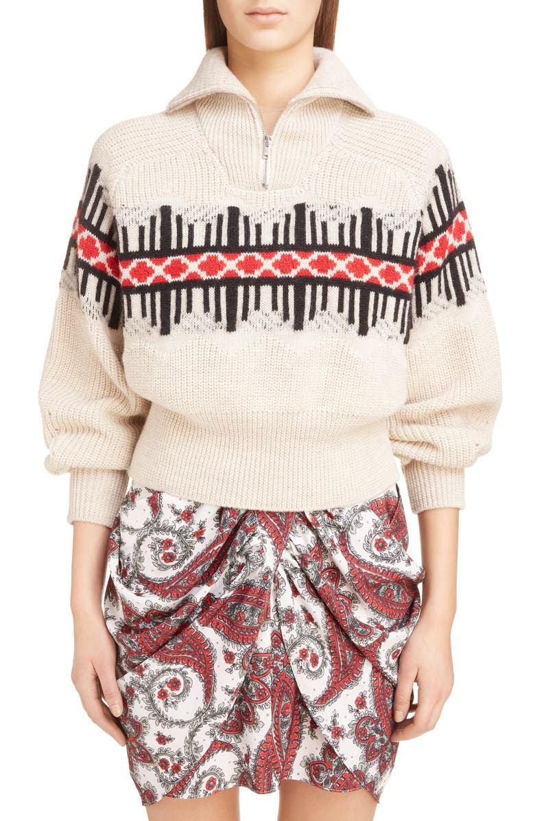 ISABEL MARANT Curtis Wool Blend Sweater, Main, color, 250