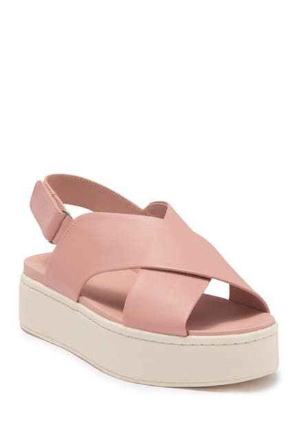 Image of Vince Weslan Leather Platform Slingback Sandal
