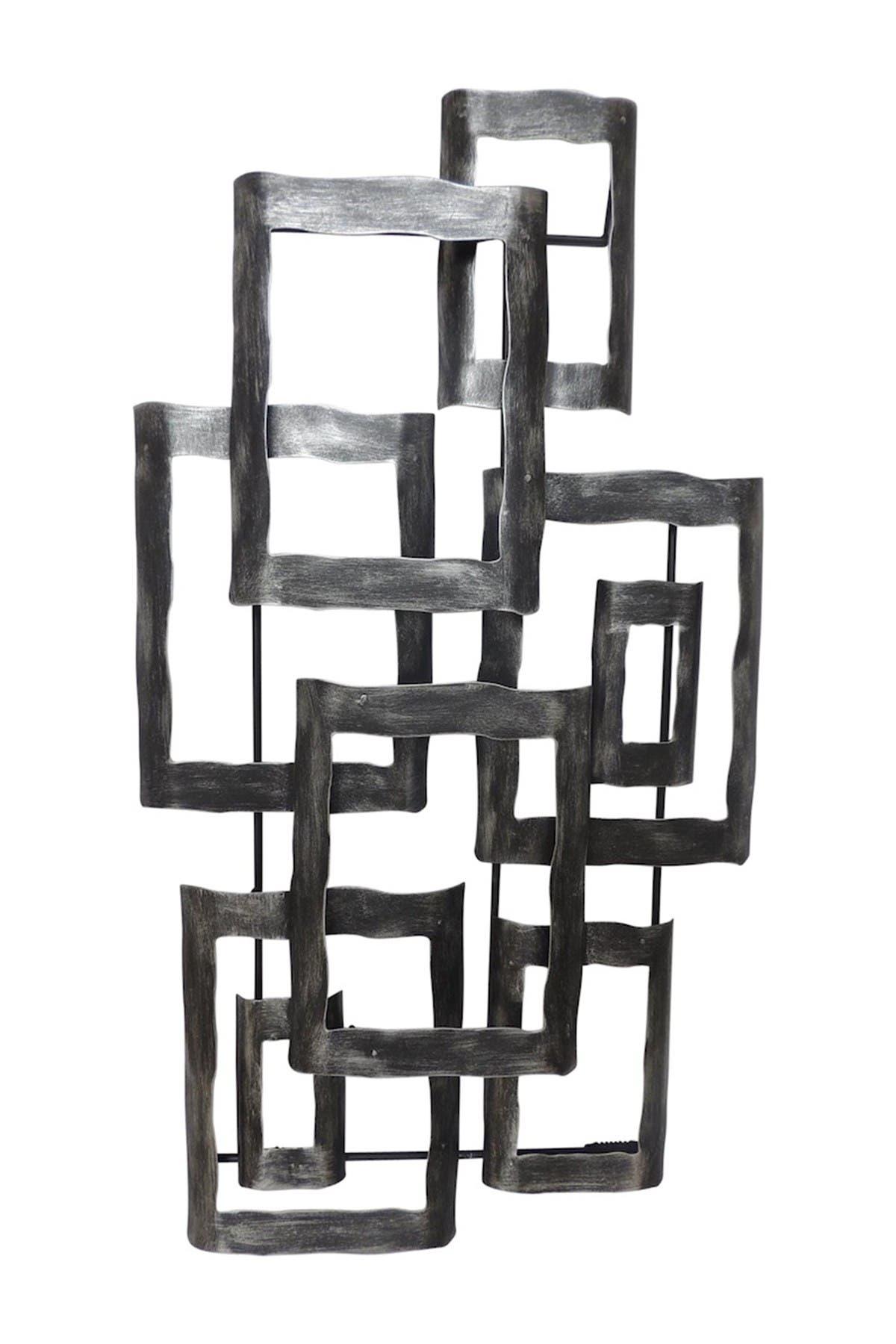 "Image of SAGEBROOK HOME Metal 19"" Contemporary Wall Dec Antique Silver - Wb"