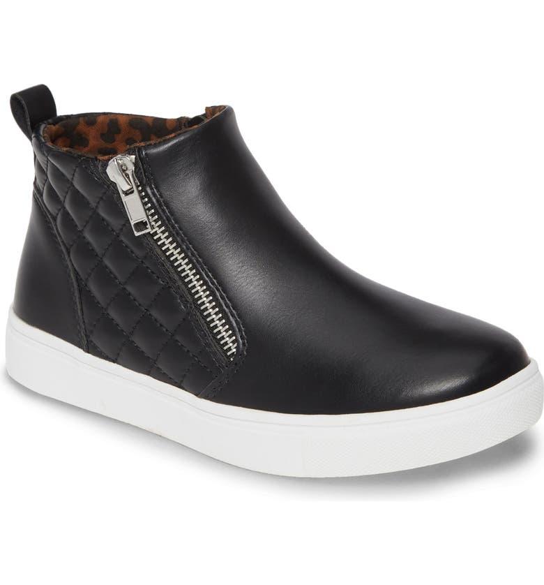 STEVE MADDEN JReggie Zip Sneaker, Main, color, BLACK
