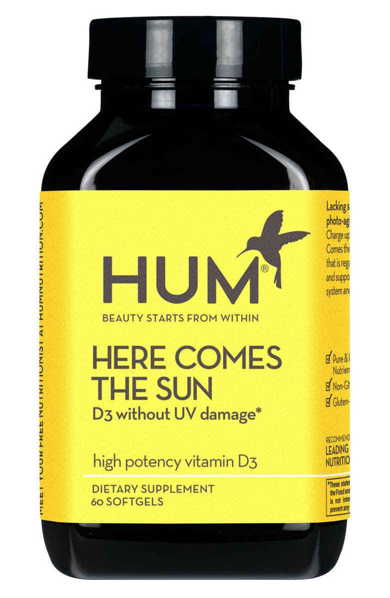 HUM NUTRITION Here Comes the Sun Vitamin D Supplement, Main, color, NO COLOR