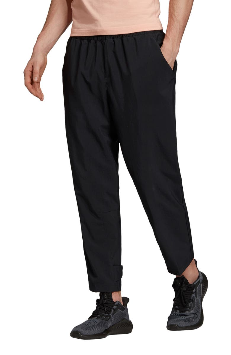 ADIDAS Athletics Pack 7/8 Woven Pants, Main, color, BLACK