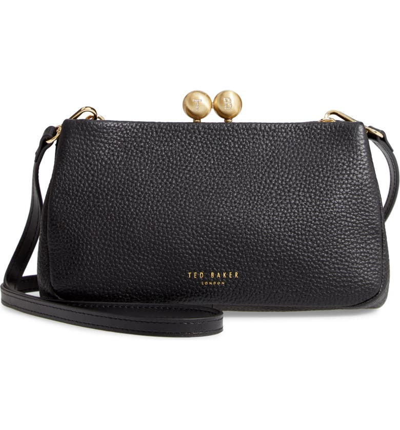 TED BAKER LONDON Chrina Leather Crossbody Bag, Main, color, 001