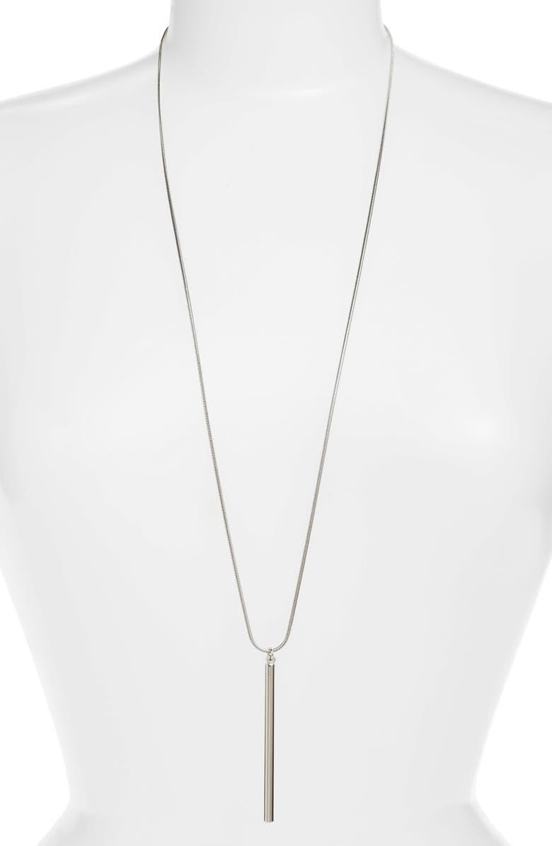 ARGENTO VIVO Stick Pendant Necklace, Main, color, 040