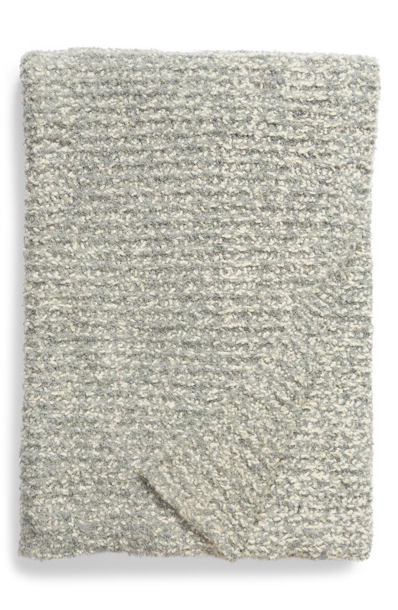 BAREFOOT DREAMS<SUP>®</SUP> Chunky Bouclé Knit Throw Blanket, Main, color, MEADOW GREEN/ CREAM