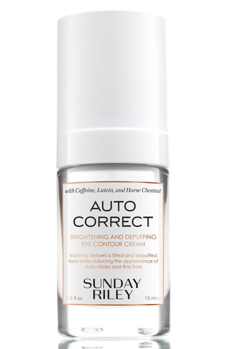 SUNDAY RILEY SPACE.NK.apothecary Sunday Riley Autocorrect Brightening and Depuffing Eye Contour Cream, Main, color, 000