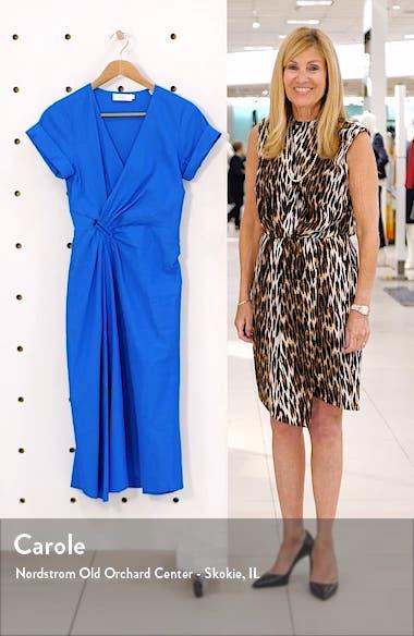 Edie Faux Wrap Midi Dress, sales video thumbnail