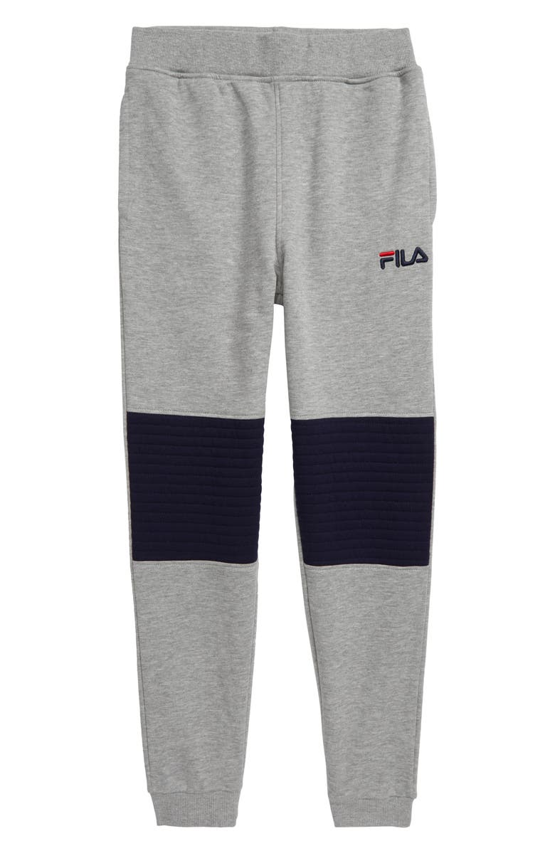 FILA Logo Fleece Sweatpants, Main, color, GREY HEATHER
