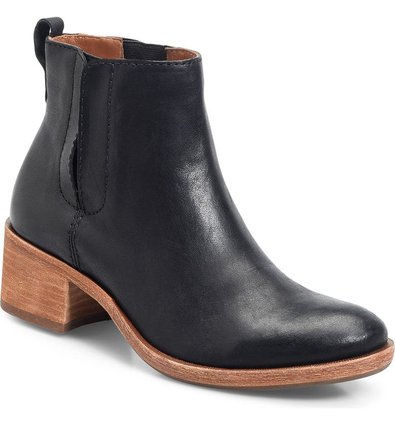 KORK-EASE<SUP>®</SUP> Mindo Chelsea Bootie, Main, color, BLACK LEATHER