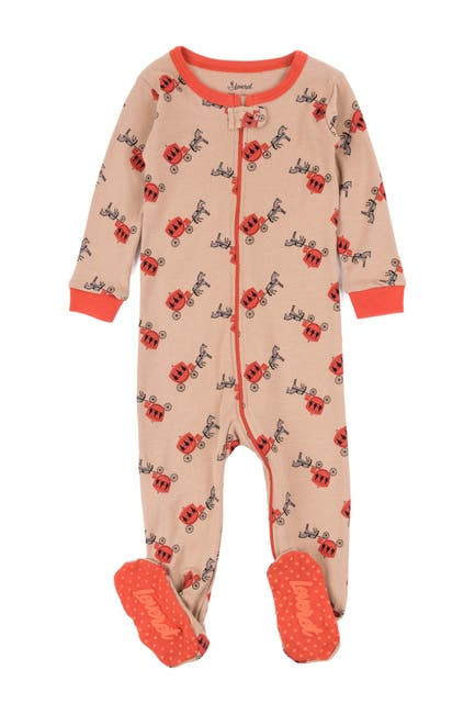 Image of Leveret Beige Carriage Footed Sleeper Pajama