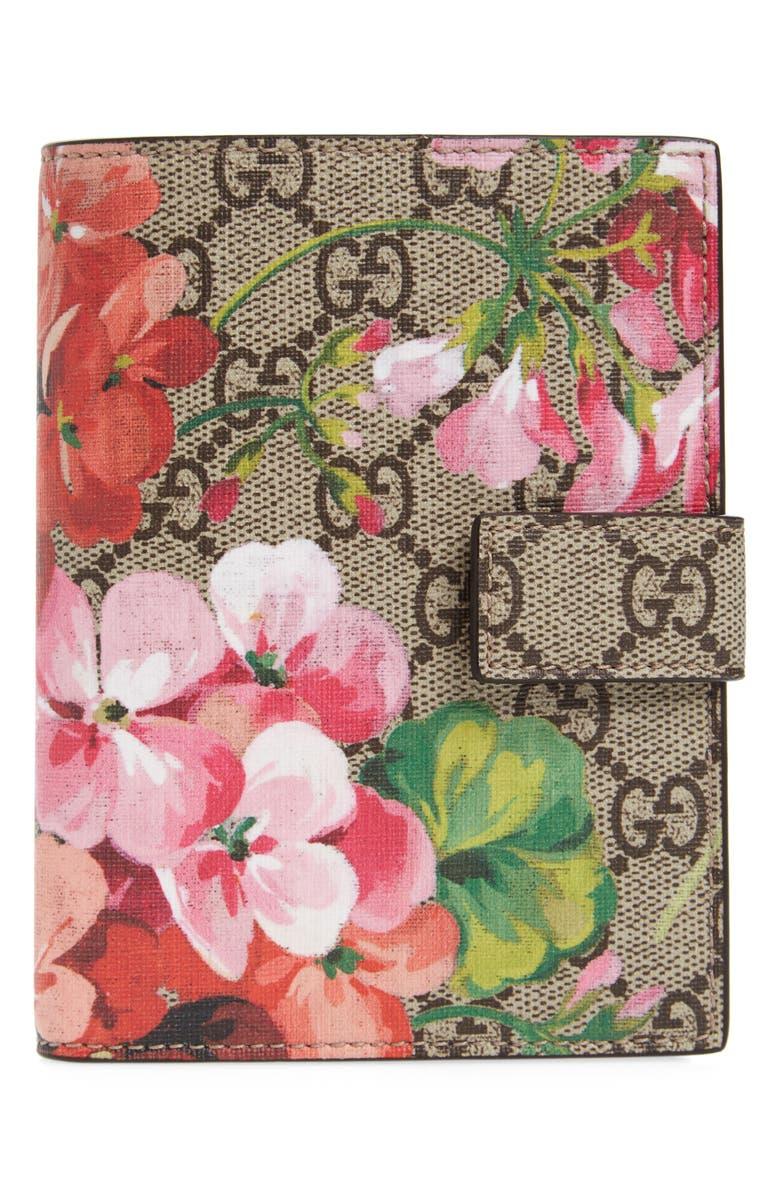 GUCCI Blooms GG Canvas Passport Case, Main, color, 250