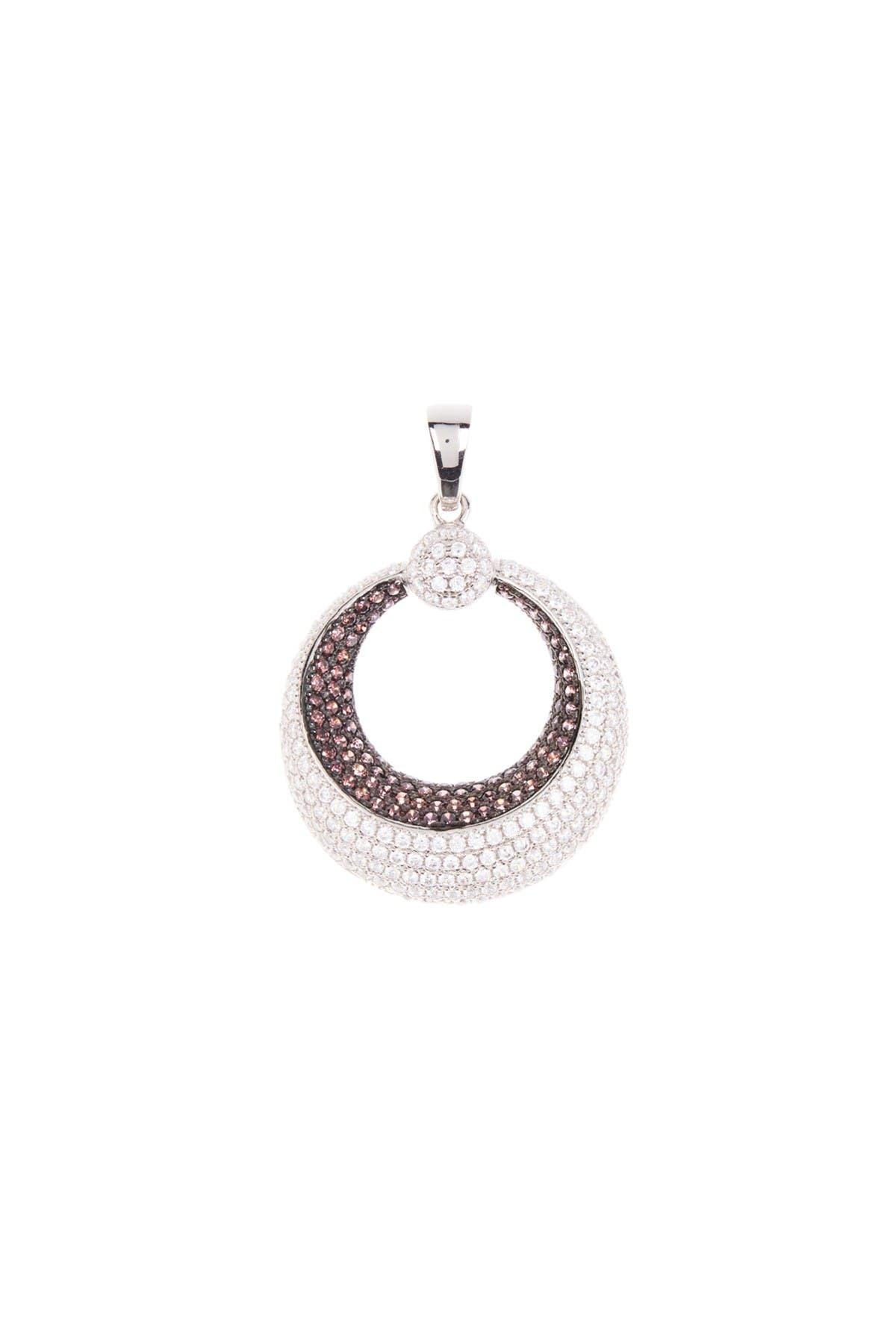 Image of BREUNING Circular Geometric Cubic Zirconia Pendant Necklace