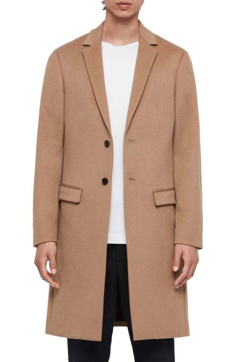 ALLSAINTS Birdstow Wool Coat, Main, color, 200