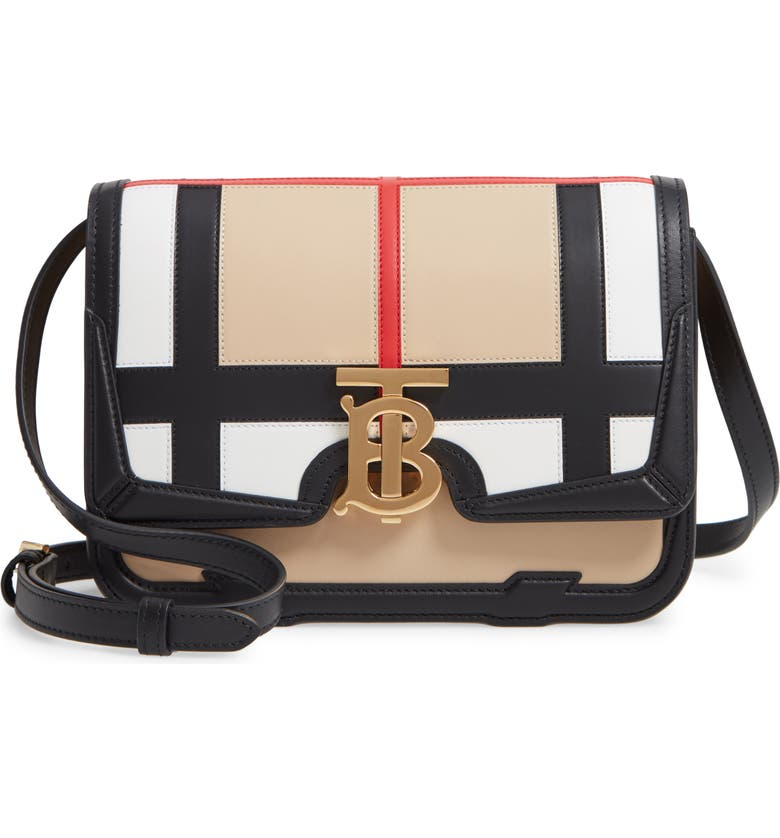 Burberry Small Tb Patchwork Leather