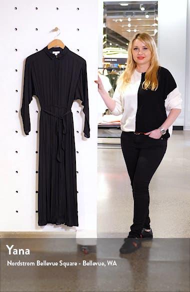 Satin Pleated Shirtdress, sales video thumbnail