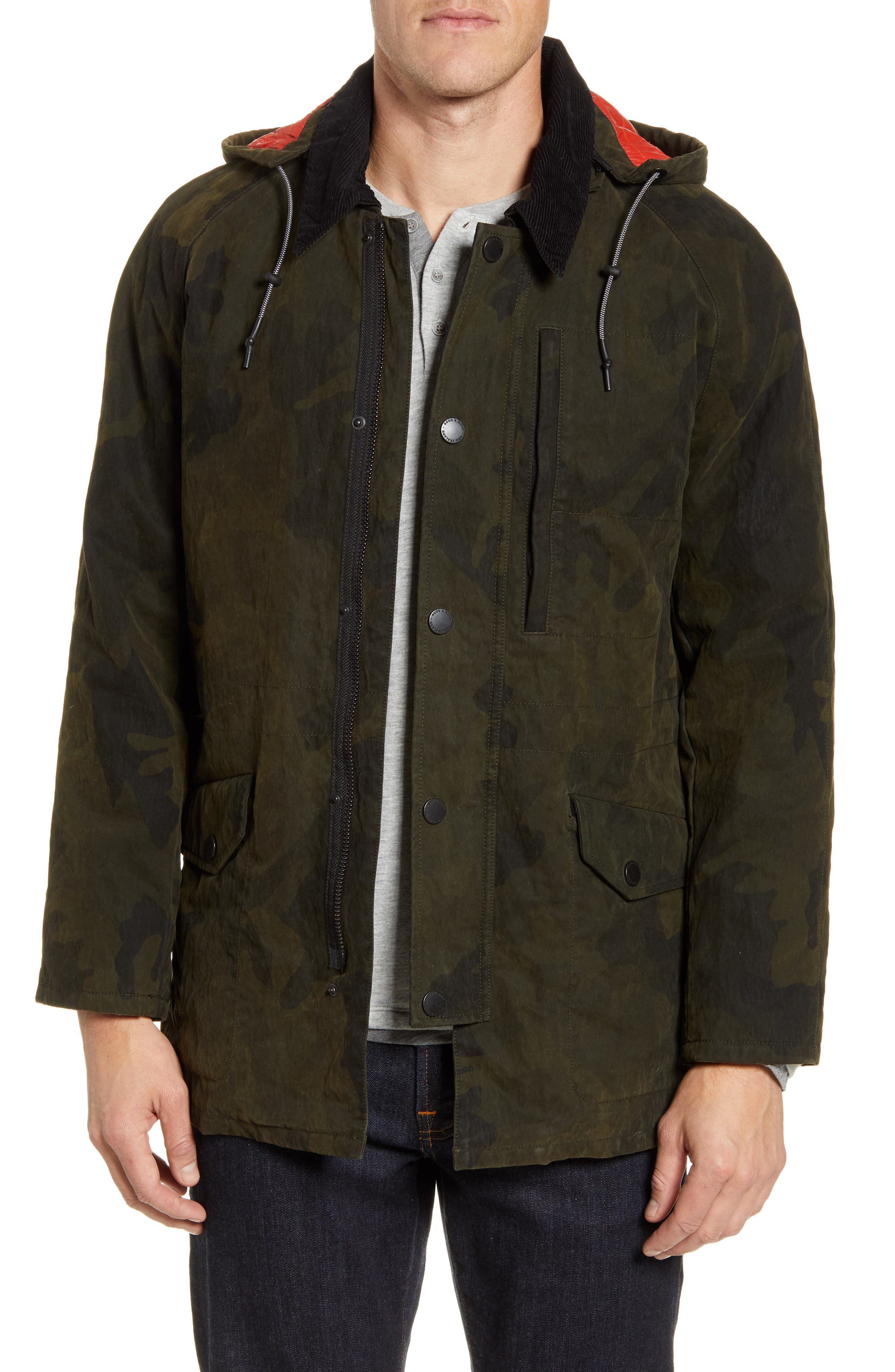 RODD AND GUNN Earnslaw Resin Camo Jacket at Nordstrom Rack