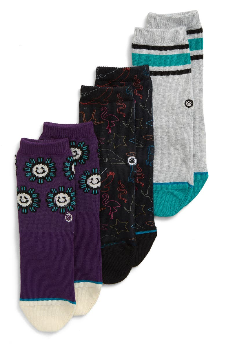 STANCE 3-Pack You Are Silly Socks, Main, color, MULTI