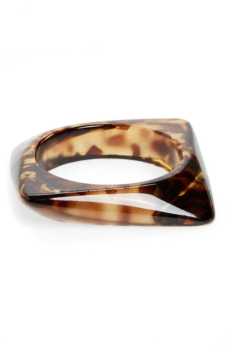 BP. Resin Square Statement Bangle, Main, color, 001