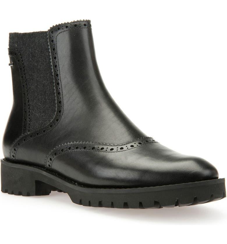 GEOX 'Ashleen' Amphibiox<sup>®</sup> Waterproof Chelsea Boot, Main, color, 001