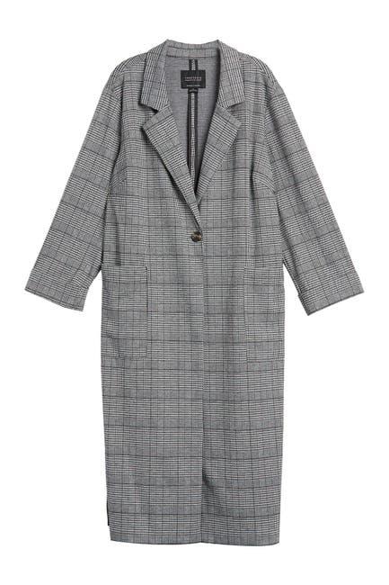 Image of Sanctuary Plaid Knit Duster Coat