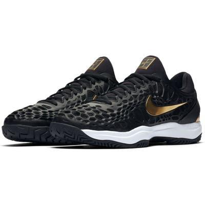 Nike Air Zoom Cage 3 Hc Tennis Shoe- Black