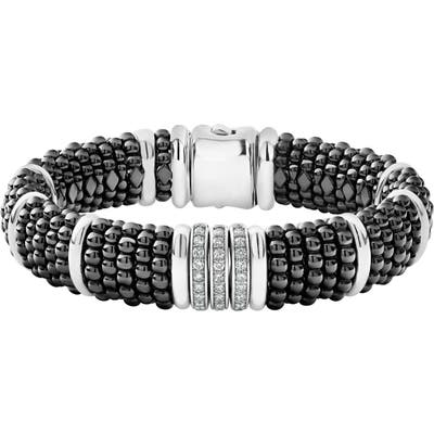 Lagos Black Caviar Diamond Two-Side Bracelet