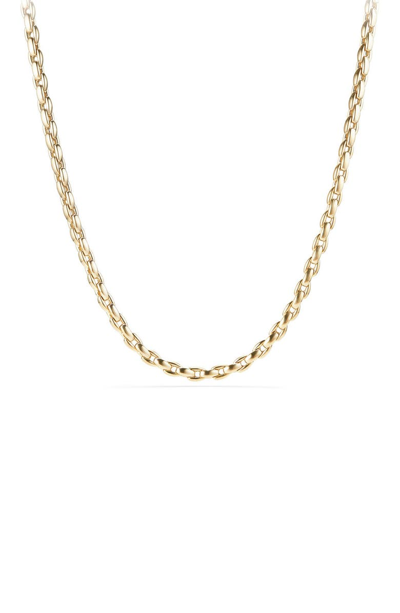 DAVID YURMAN Elongated 18K Gold Box Chain, 6mm, Main, color, 710