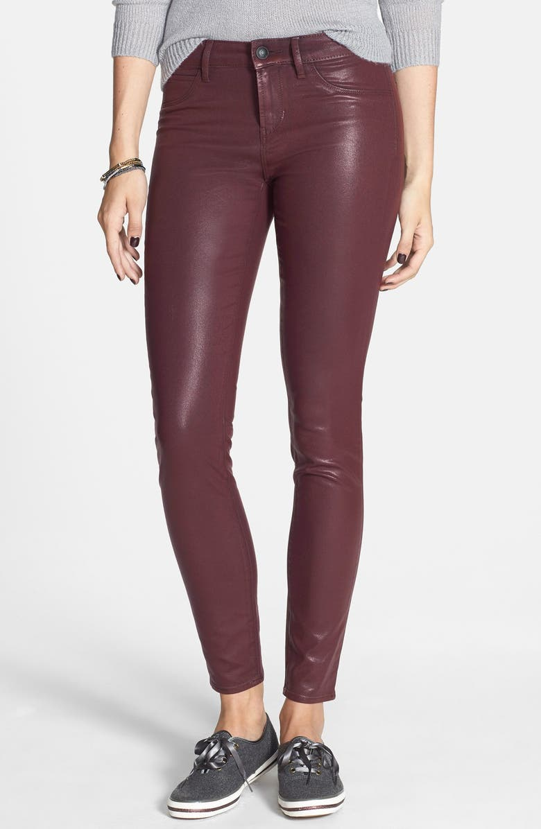 ARTICLES OF SOCIETY 'Mya' Coated Skinny Jeans, Main, color, 930