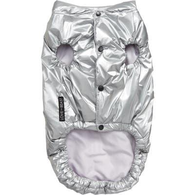 Lovethybeast Metallic Puffer Vest, Metallic