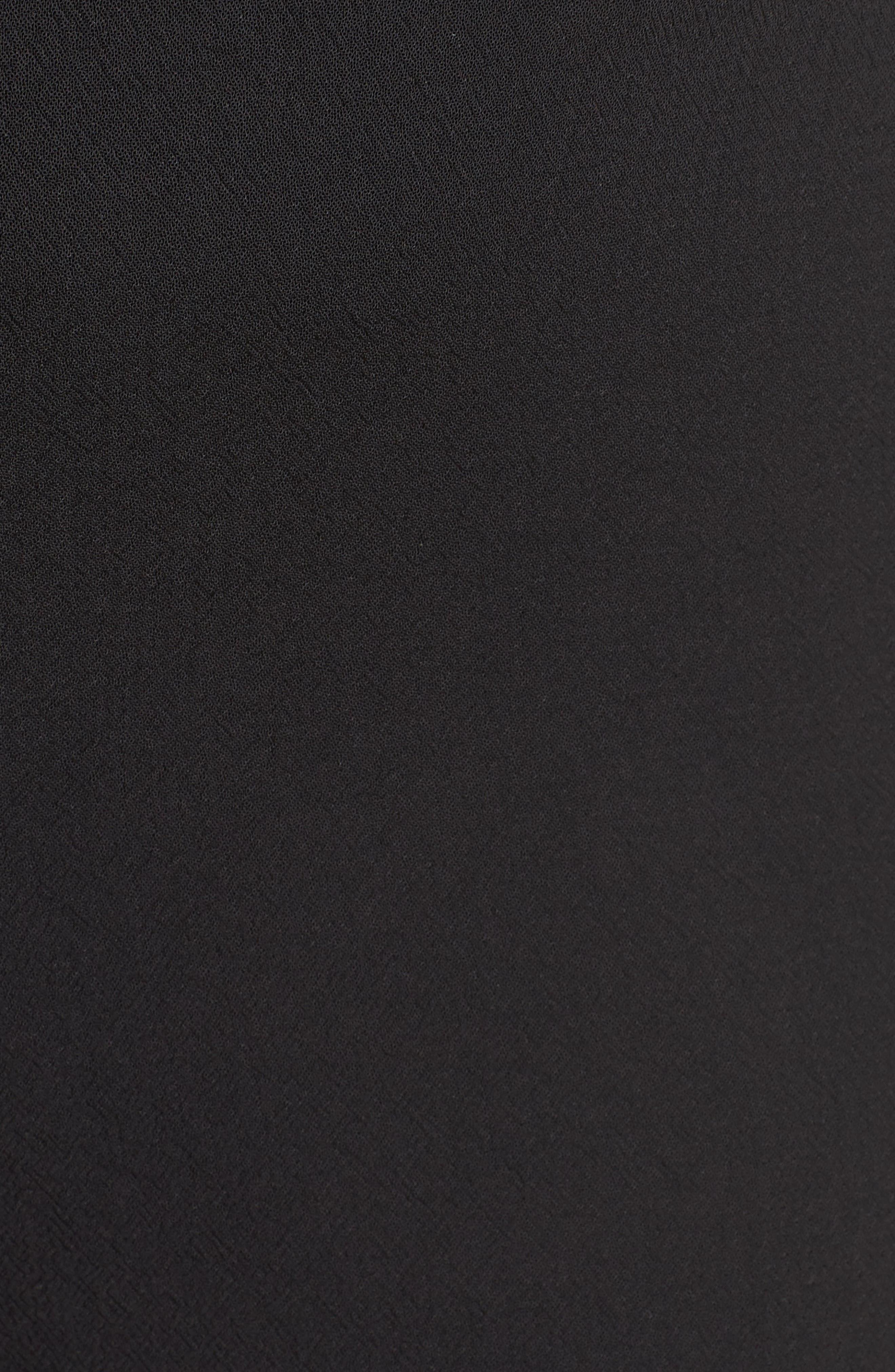 ,                             Parisian Crepe Trousers,                             Alternate thumbnail 6, color,                             RICH BLACK