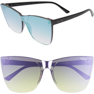 Quay Australia Come Thru 5m Gradient Cat Eye Sunglasses - Purple/ Black