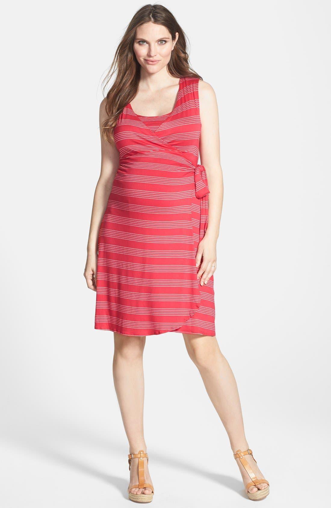 ,                             Sleeveless Wrap Maternity/Nursing Dress,                             Main thumbnail 6, color,                             640