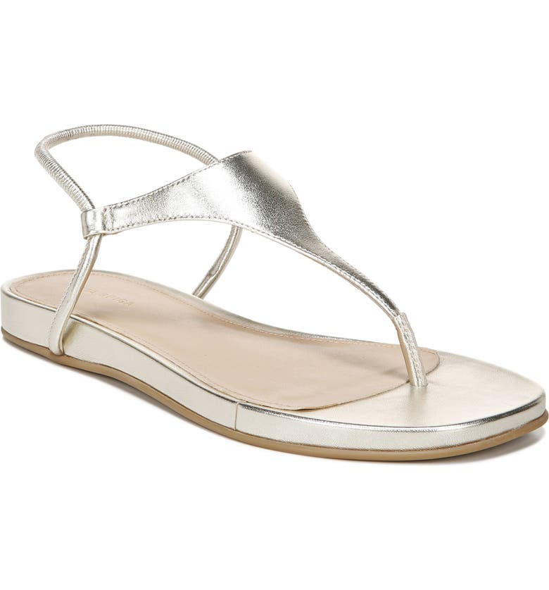 VIA SPIGA Pixey Wedge Sandal, Main, color, GOLD LEATHER