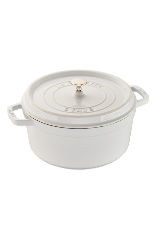 Staub Kitchen & dinings 7-QUART ROUND ENAMELED CAST IRON COCOTTE