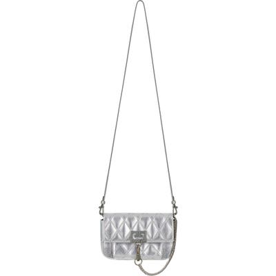 Givenchy Mini Pocket Metallic Quilted Crossbody Bag - Metallic