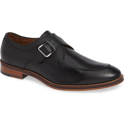 Johnston & Murphy Conard Monk Strap Shoe, Black