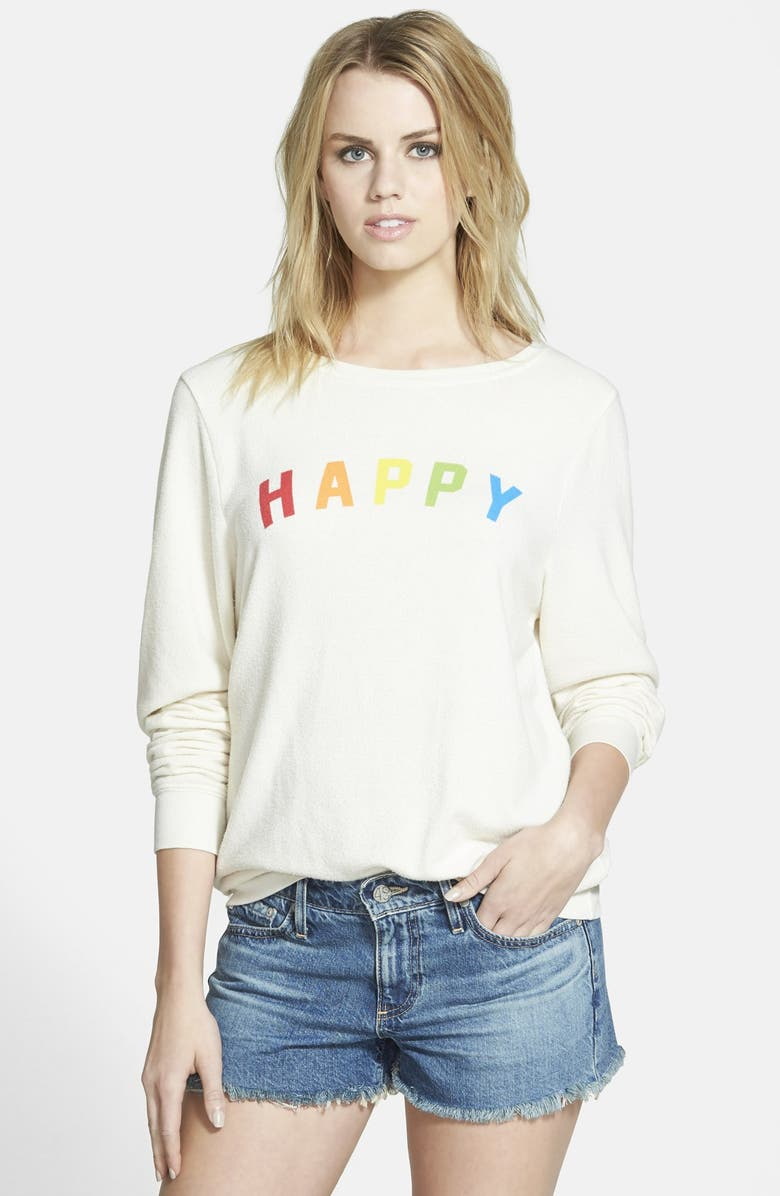 573bfce6c7 Wildfox 'Happy Girl' Baggy Beach Jumper Pullover | Nordstrom