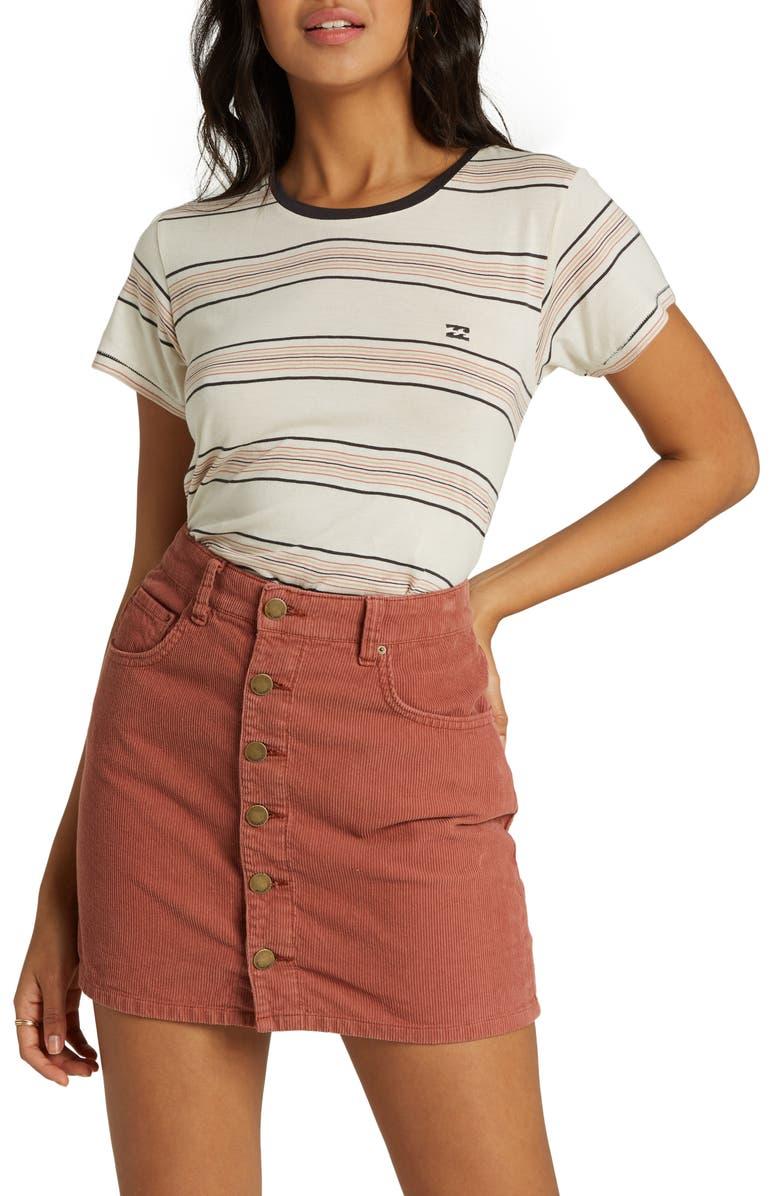 BILLABONG Good Life Corduroy Miniskirt, Main, color, CACAO