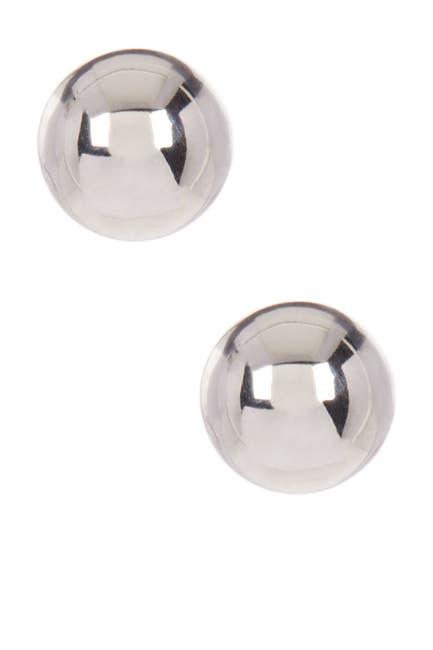 Image of KARAT RUSH 14K White Gold 5mm Ball Stud Earrings