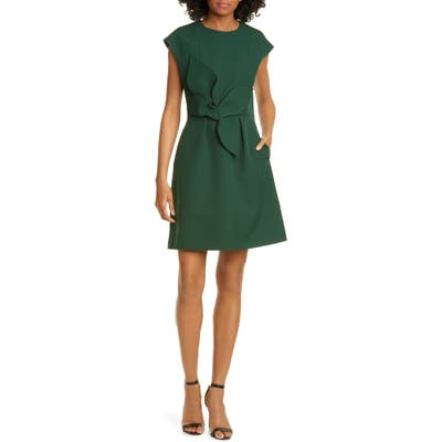 Ted Baker London Polly Structured Bow Minidress, Green
