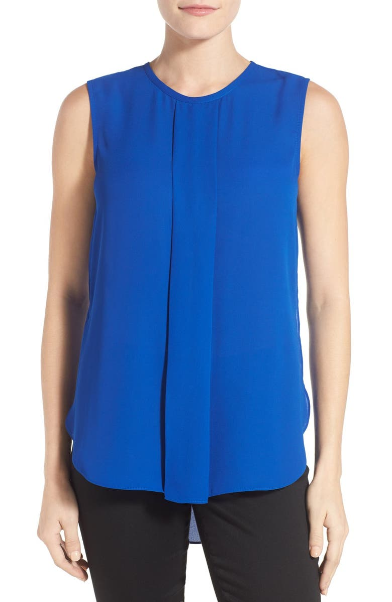 VINCE CAMUTO Center Pleat Sleeveless Blouse, Main, color, 471