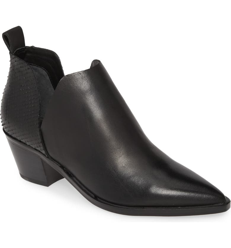 DOLCE VITA Sonni Pointy Toe Bootie, Main, color, BLACK LEATHER