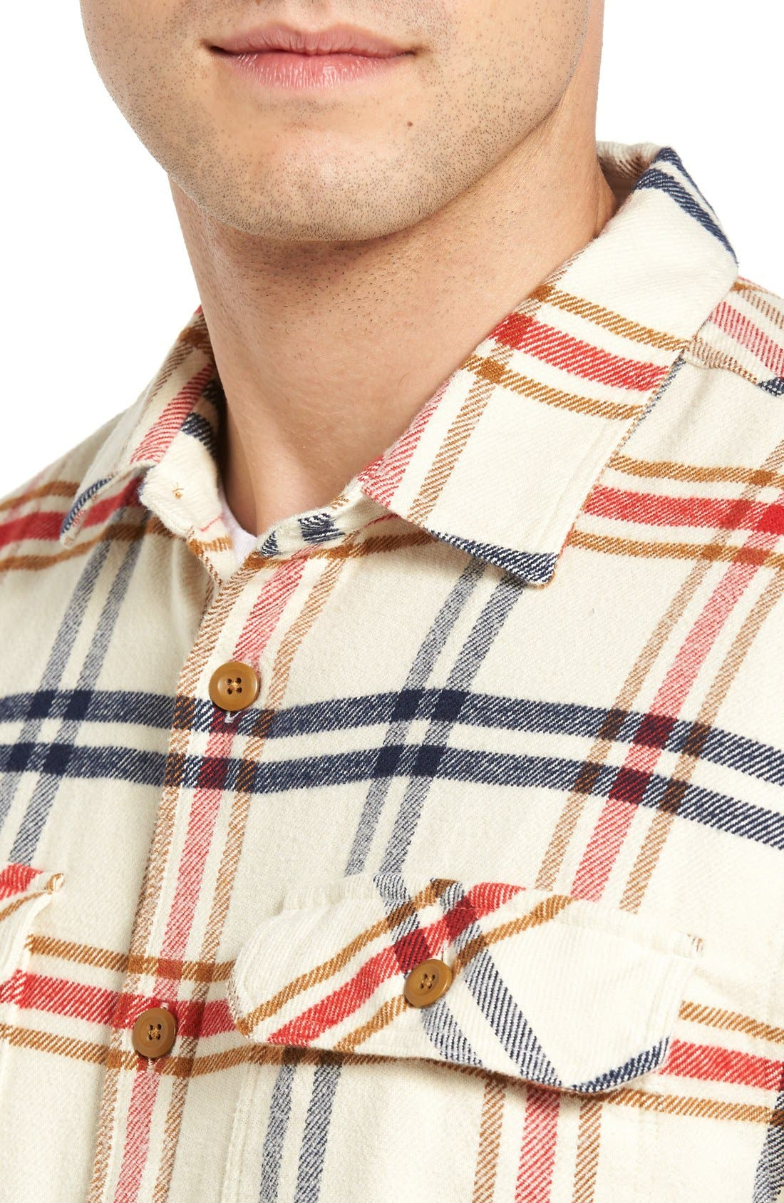 ,                             'Fjord' Regular Fit Organic Cotton Flannel Shirt,                             Alternate thumbnail 105, color,                             303