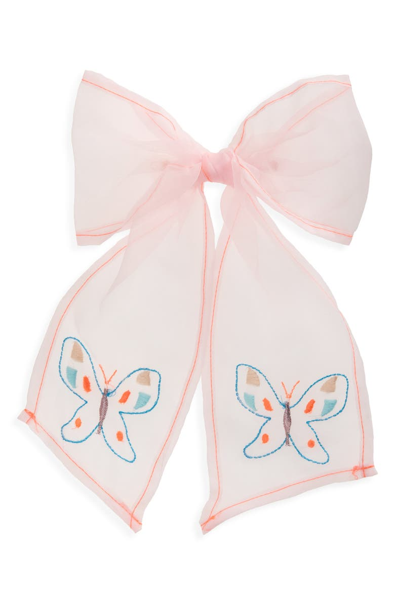 MERI MERI Butterflies Bow Hair Clip, Main, color, NO COLOR