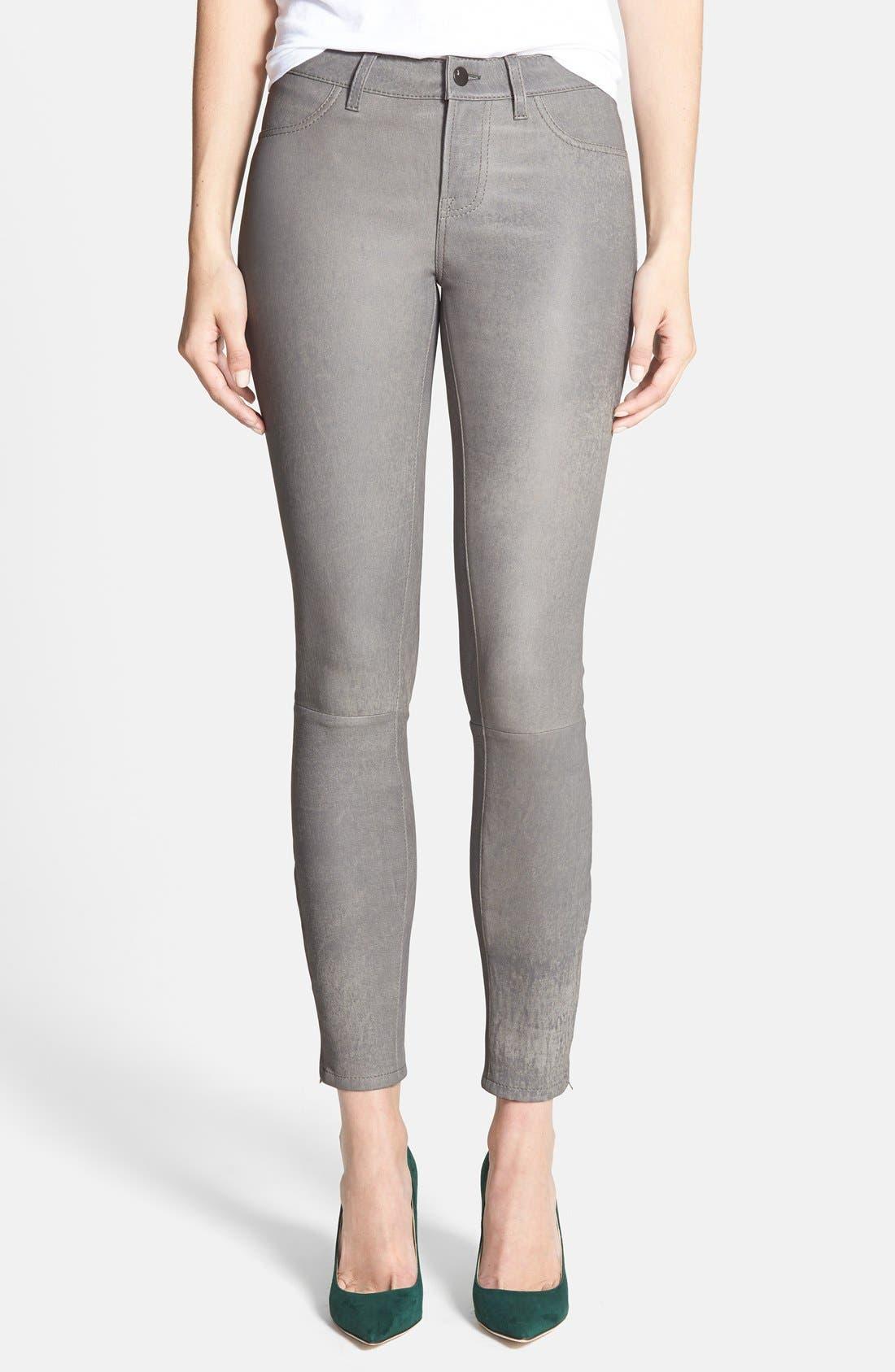 ,                             '8001' Lambskin Leather Pants,                             Main thumbnail 44, color,                             024