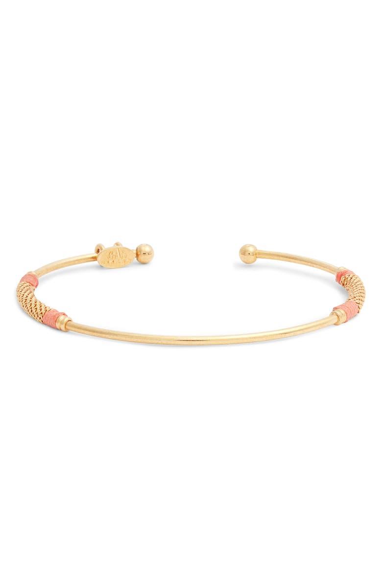 GAS BIJOUX Zanzibar Cuff Bracelet, Main, color, GOLD/ PEACH 2