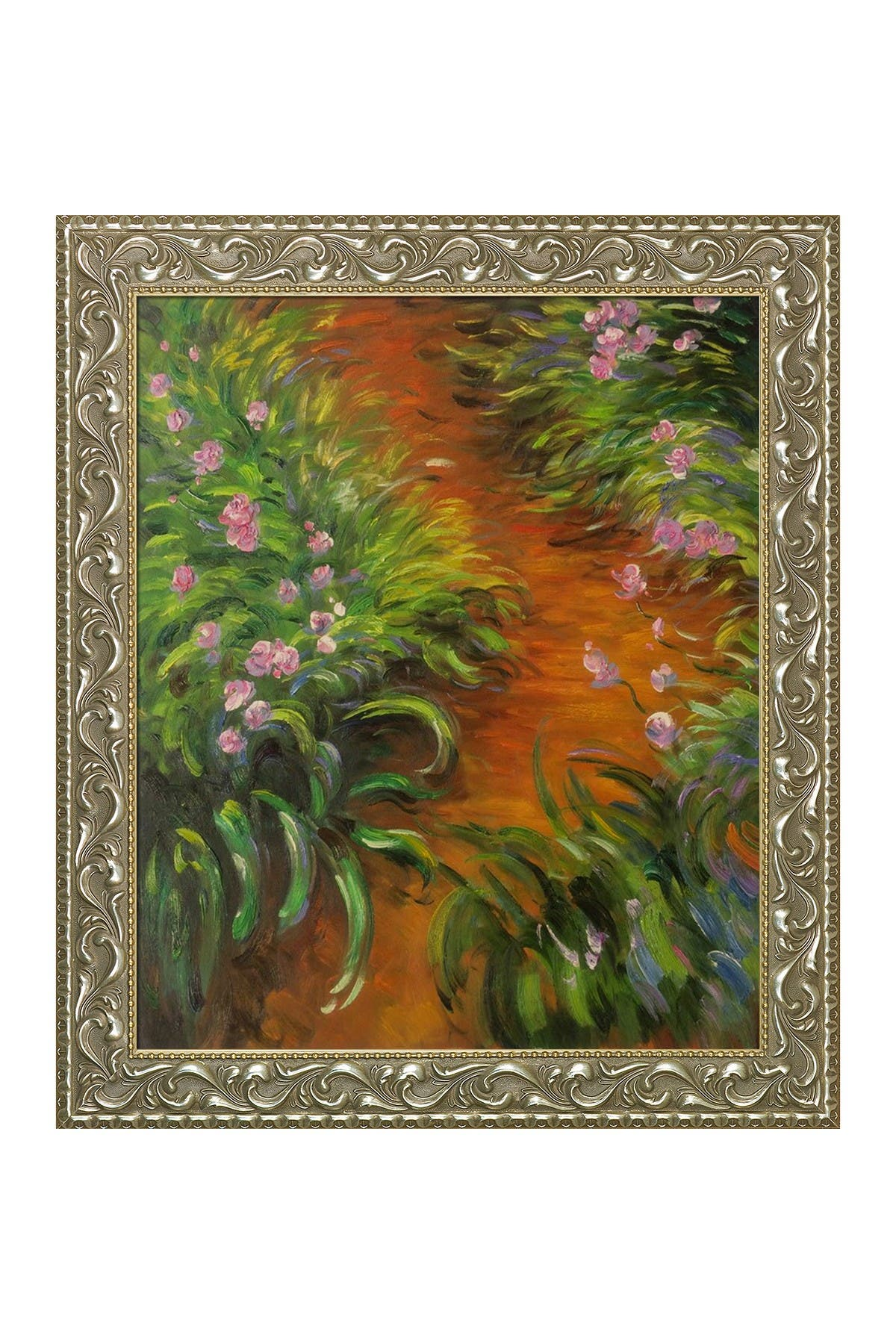 Image of Overstock Art Irises by Claude Monet Framed Hand Painted Oil on Canvas