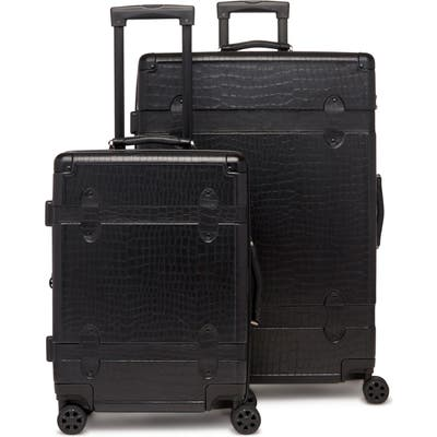 Calpak 20-Inch & 28-Inch Trunk Rolling Luggage Set - Black