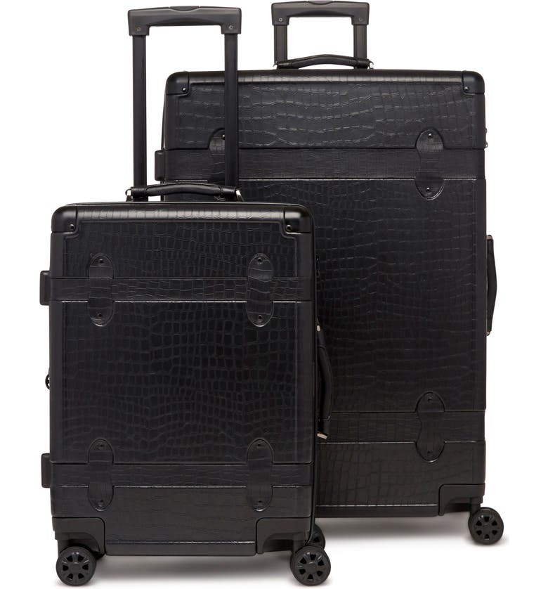 CALPAK 20-Inch & 28-Inch Trunk Rolling Luggage Set, Main, color, NOIR