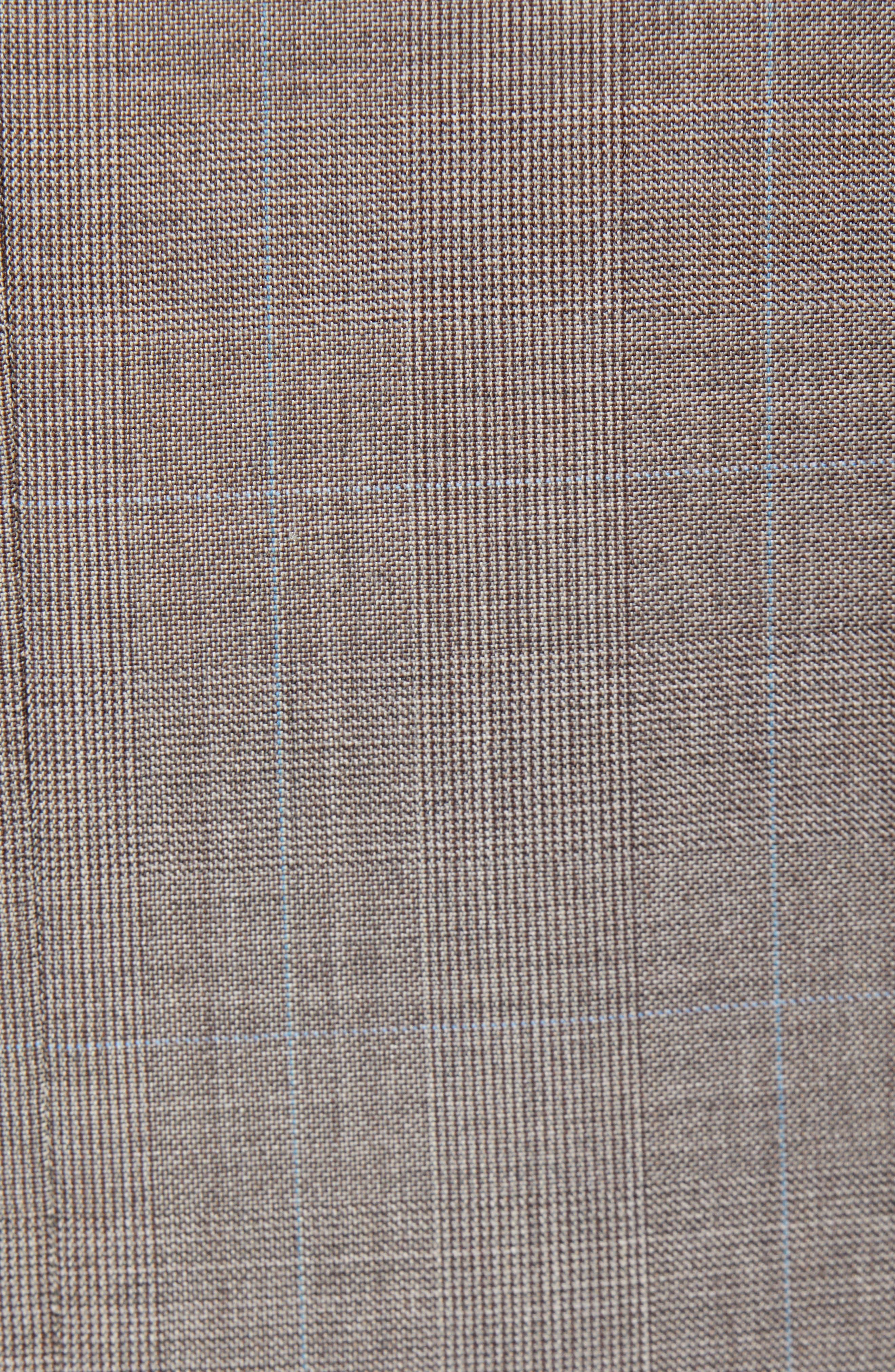 ,                             Flynn Classic Fit Windowpane Wool Suit,                             Alternate thumbnail 7, color,                             TAN